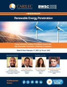CARILEC & BWSC Renewable Energy Penetration Webinar